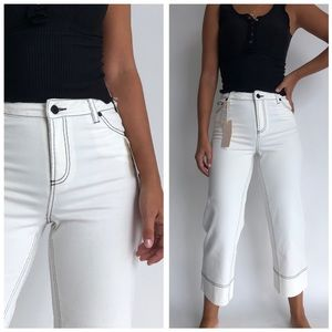 NWT Vince Camuto Cropped Wide Leg Jeans 26